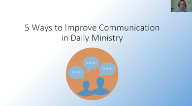 Five ways to improve communication in daily ministry